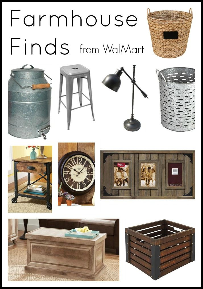 Farmhouse finds from the BHG collection at Walmart.