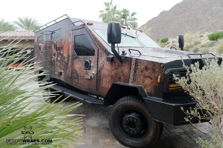 A recently finished customized vehicle we wrapped in an awesome Mad Max themed design. #vehiclewrap #custom