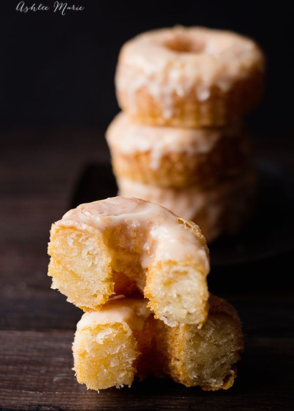 layers of flaky dough fried and topped with sugar, homemade cronuts are delicious