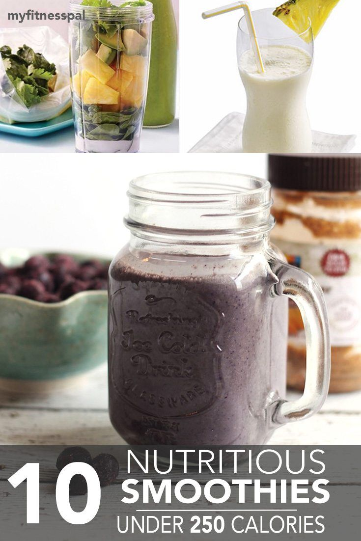 Enjoy these nutritious home-blended smoothies all for less than 250 calories!