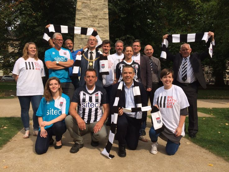 Representatives from Bath's business community have come together to show support for the Big Bath City Bid and to encourage other businesses to help the Bath City FC Supporters Society raise the £…
