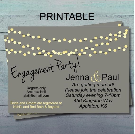 Engagement Party Invitation Couples Wedding by UrbanStyleDesigns,