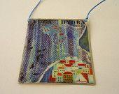 Handmade pendant-photo-Liquid Glass-Art jewelry-Coloful-Unique present-Ladies-Gift