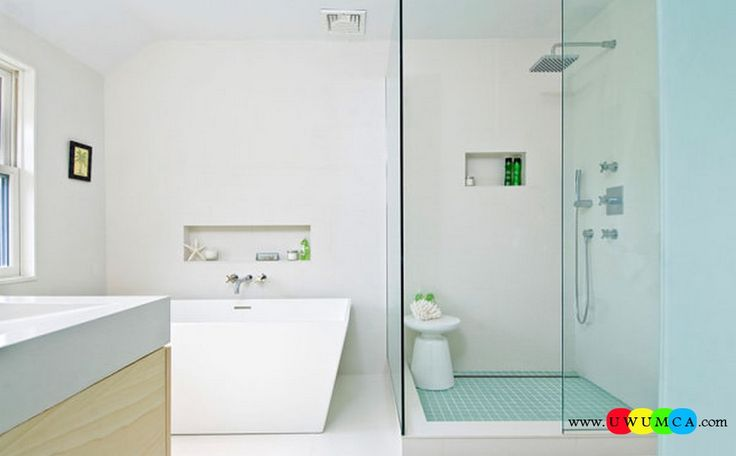 Bathroom:Decorating Modern Summer Bathroom Decor Style Tropical Bath Tubs Ideas Contemporary Bathrooms Interior Minimalist Design Decoration Plans Green Bath Products Make All The Difference In A Minimalist Powder Room Cool and Cozy Summer Bathroom Style : Modern Seasonal Decor Ideas