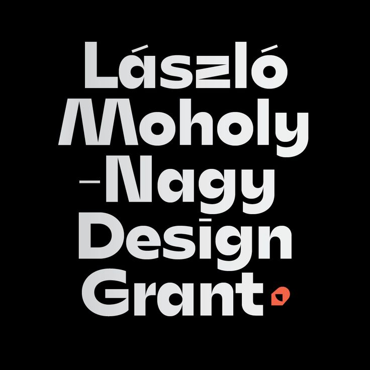 László Moholy-Nagy Design Grant custom typeface and branding is on!