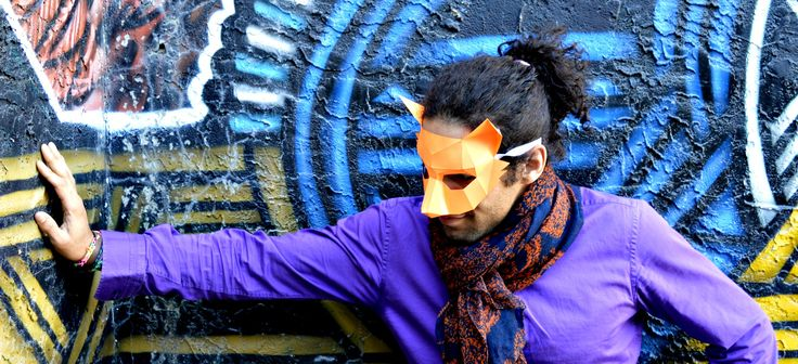 Fox mask inspired by spring, designed by RPS Masks, and read to be constructed by you. www.rpsmasks.com