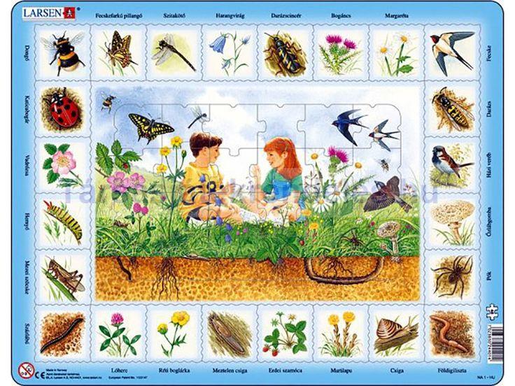 Larsen maxi lap puzzle 48db-os Mezők élővilága NA1