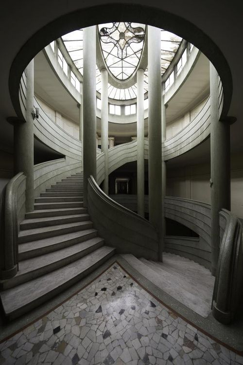 Marble Stairs To A Dome