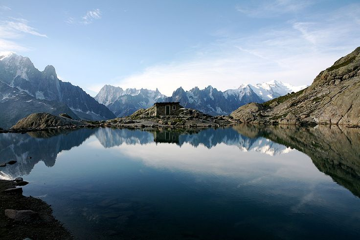 An idyllic refuge at Lac Blanc, Chamonix, France - Photographer:   Julia Smailes of Box, Wiltshire