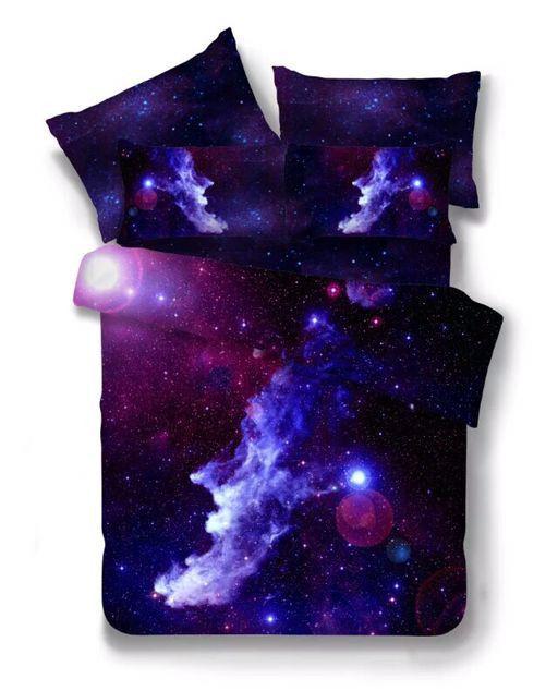 Hot 3d galaxy cama twin sets/queen size universo espaço temático colcha 2/3/4 pcs roupa de cama e lençóis de cama edredon conjunto de tampa em Conjuntos de cama de Home & Garden no AliExpress.com | Alibaba Group
