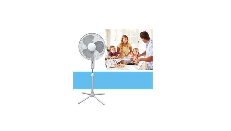 Oscillating Pedestal Stand Fan Quiet Adjustable 16-Inch 3 Speed for $25.99 at eBay