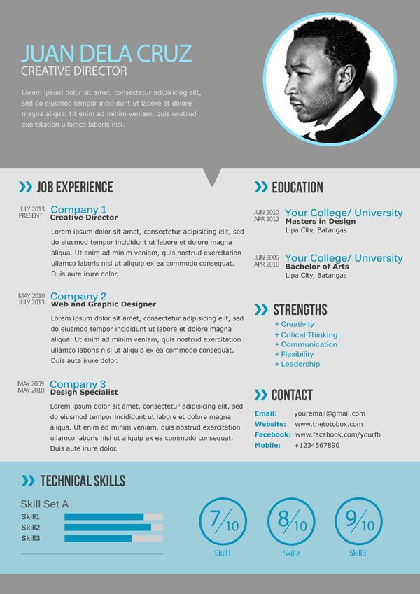 17 Best Images About Modern Cv Samples On Pinterest