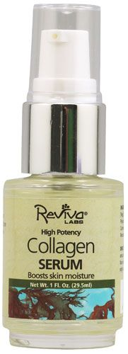 Reviva Labs Collagen Serum -- 1 fl oz - Vitacost | $17 (for Farmacy brightening sheet mask)
