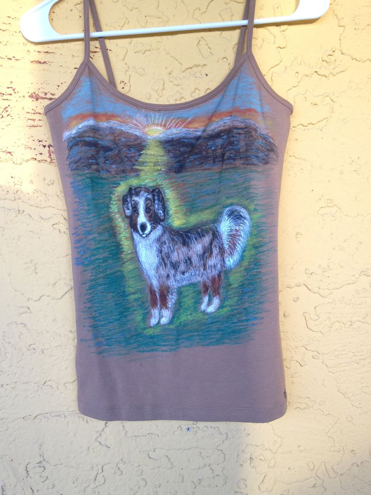Australian Shepherd Tank Top, Personalized Tank Top, Personalized Clothing, Custom Design, Hand Drawn Designs, We Draw Pets On Clothes by DesigningInTheDesert on Etsy