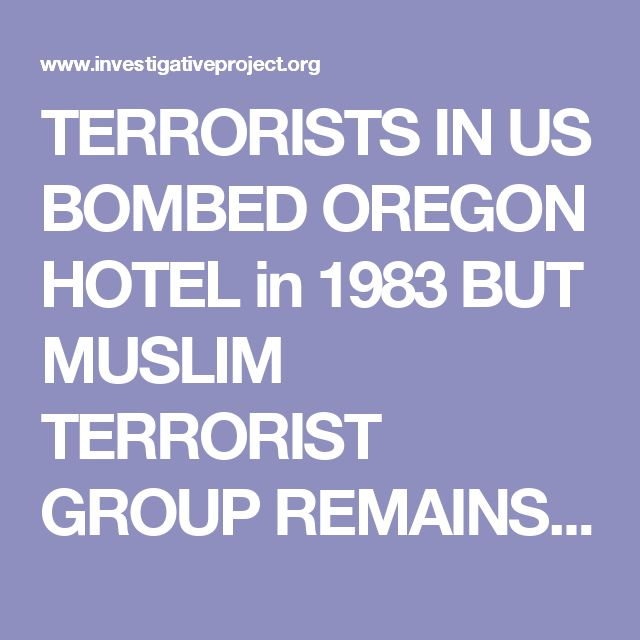 TERRORISTS IN US BOMBED OREGON HOTEL in 1983 BUT MUSLIM TERRORIST GROUP REMAINS IN U.S. JAMAAT AL FURQ USE VIOLENCE & FORCE, US GOV, HOMELAND SECURITY ALLOW THEM TO STAY IN US.  US v. Stephen Paster :: The Investigative Project on Terrorism