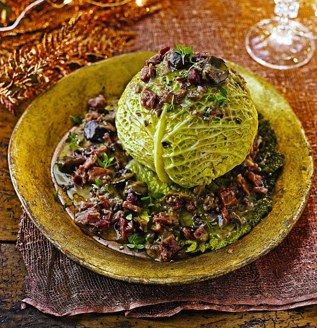 Christmas with a twist: Whole baked cabbage with cider and chestnuts http://dailym.ai/1IGXJ3c