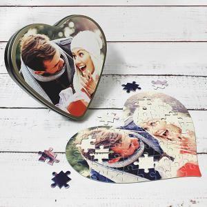 Puzzle SERCE ze zdjęcia - prezent na Walentynki - Trafiony prezent