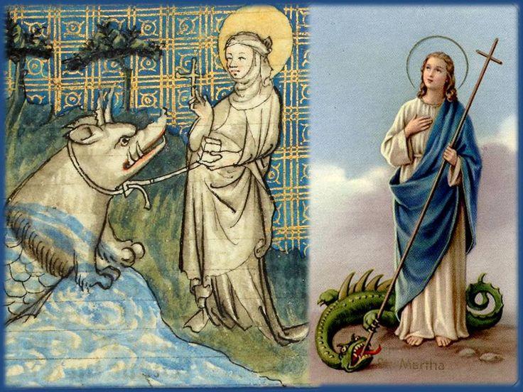 Santa Marta Virgen, que en monte entraste, las fieras bravas espantaste, con tus cintas las ataste y con tu hisopo las amansa...