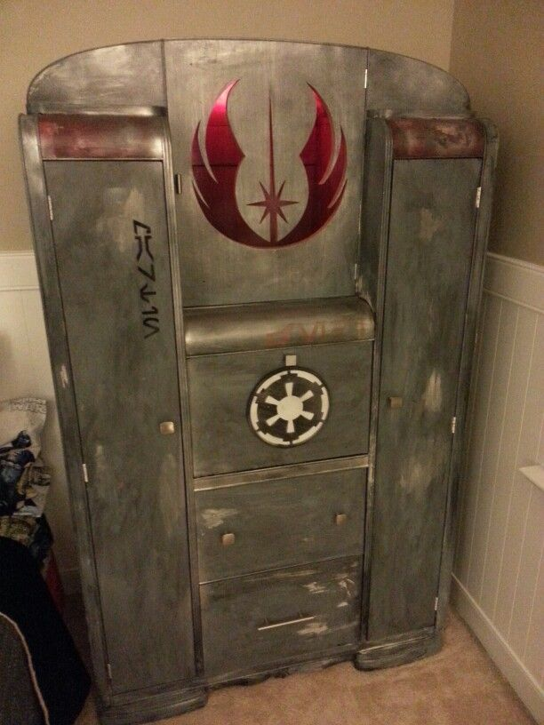 a star wars bedroom piece i made from repurposed scratch and dent art deco furniture