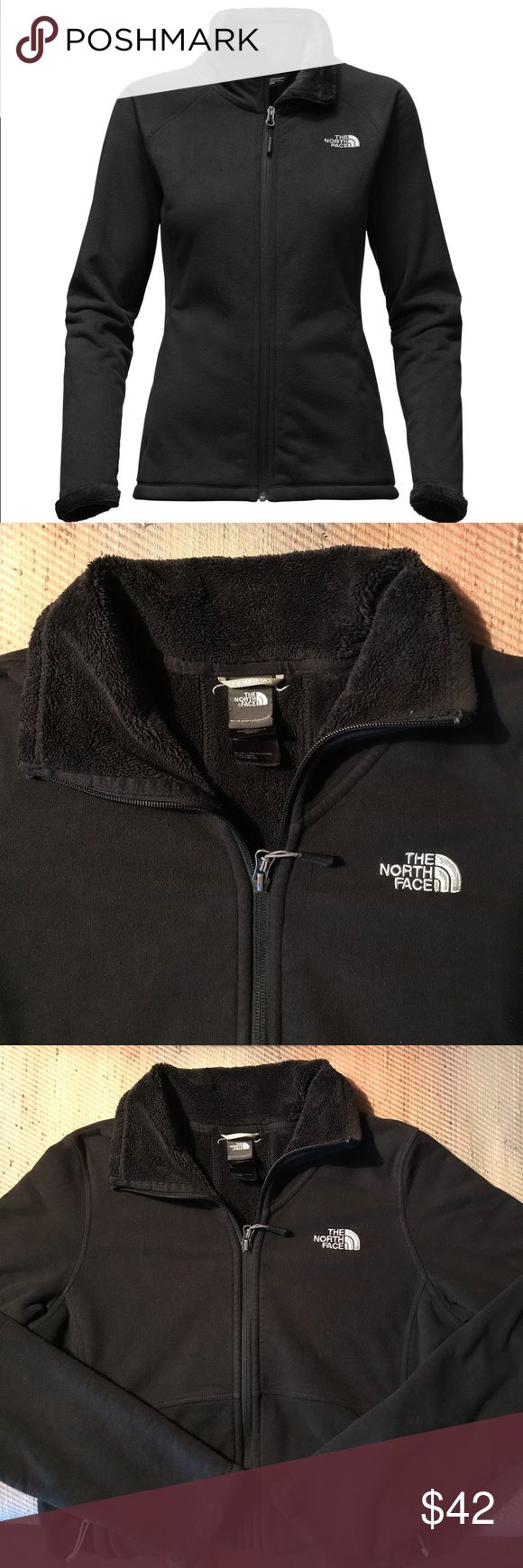 SALE! North Face fleeced lined small jacket In fabulous shape! It practically looks like the day I bought it. I've only worn it 4/5 times? No pilling. No fading. No stains. No snags. It practically looks new, see pictures! It is a full zip fleece lined jacket. The cuffs are super cute! Will trade for another Northface jacket in like condition in a size large or XL. Retails $99. Please see other listing for a sunny yellow Northface half zip sweatshirt in like new condition, size small, as…