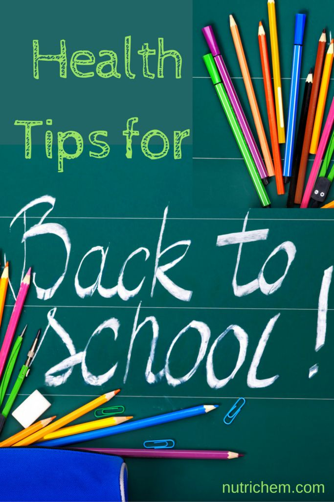Health Tips for Back to School - from a NutriChem #teacher. Includes ways to keep you mentally and physically healthy this #September, no matter how old you are! Great for #daycare and #childcare providers, #parents, #grandparents #teachers!