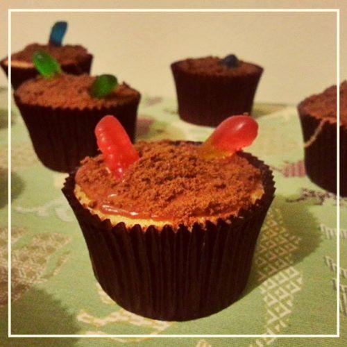 Cupcake terrário - Festa Pântano