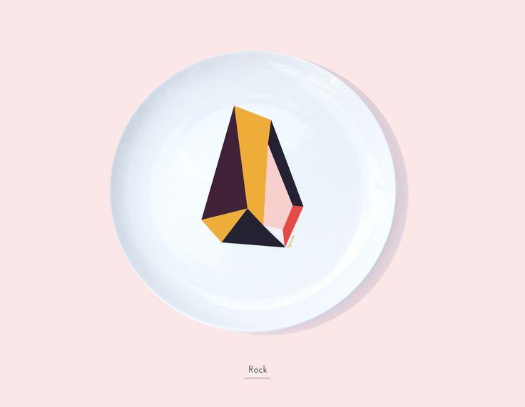 Secon Life of Plates / ROCK / Lapinska Porcelain /  www.lapinska-porcelana.com plate porcelain lapinska