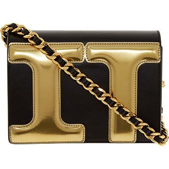 Black & Gold Cross Body Bag