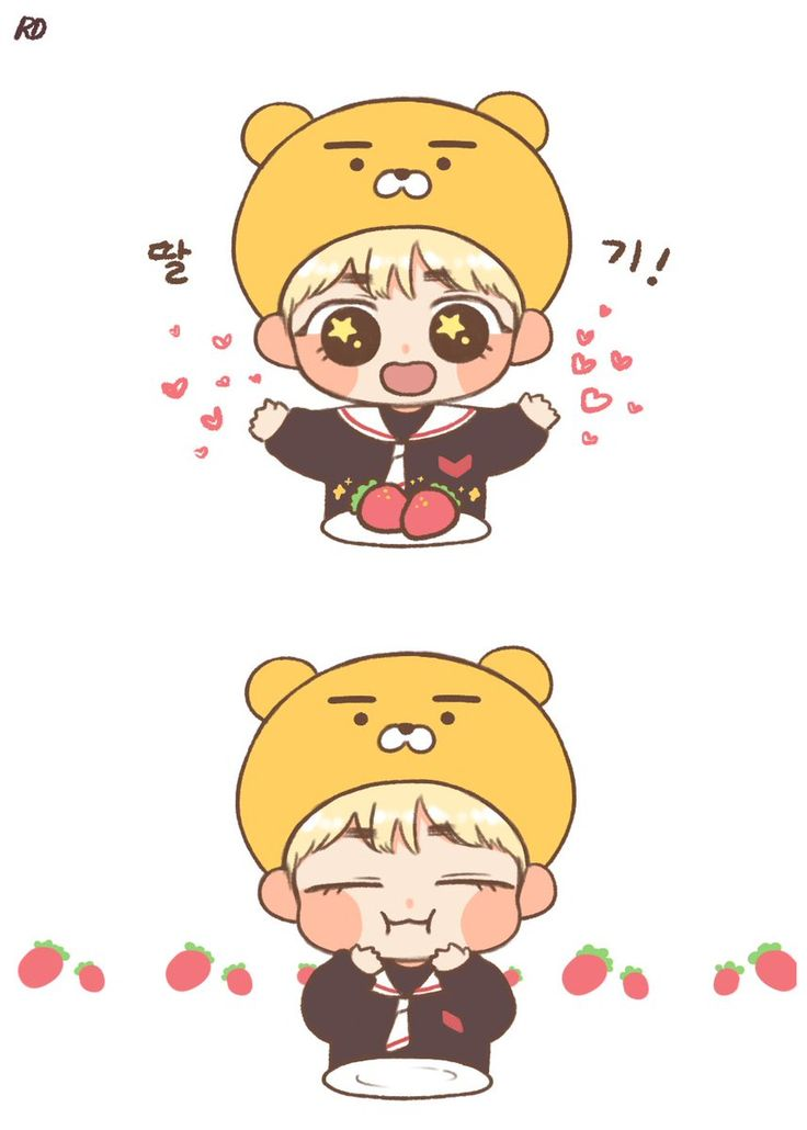 I wish TaeTae loved me as much as he loves strawberries, but seeing him this happy no matter why is enough for me TvT