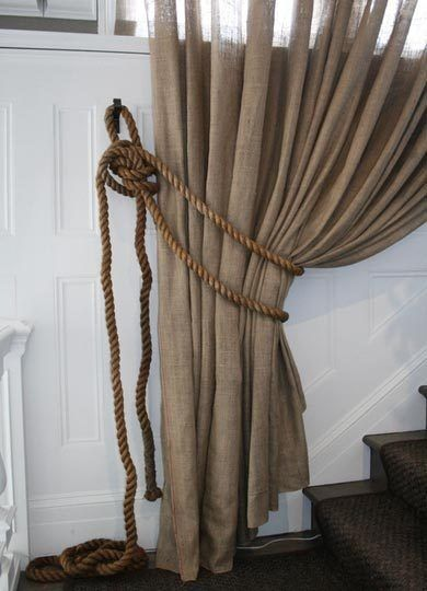 Rustic glam burlap linen curtains bedroom-beauties