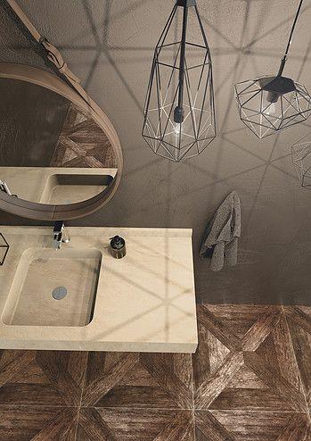 Marmi Serafini Miami consolle with integrated square under counter washbasin marble beige