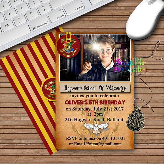 Birthday Party Invitations Harry Potter Theme Invitation
