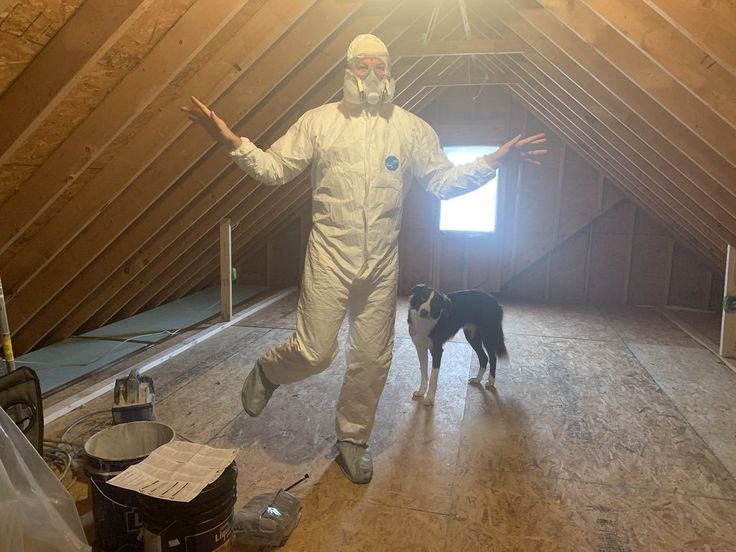 Insulating The Room Over The Garage In 2020 Attic Office Garage Insulation Garage