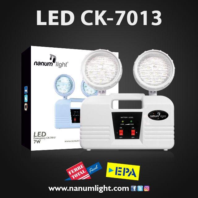 ¿Buscando una iluminación convincente ante las fallas eléctricas? No dejes a oscuras los pasillos, la lámpara emergencia auxiliar CK - 7013 de Nanum Light, te brindara iluminación segura y con calidad.
