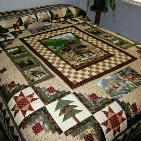 Wildlife Quilt; Designed and pieced by Lucy Maust Quilted by Esther B. Yoder.