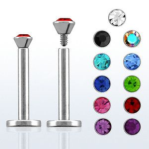 This Surgical Steel Internally Threaded 2.5 mm Crystal Labret (16G, 5/16 inch) is a great addition to your jewelry collection! Fits perfectly for labret or monroe piercing!