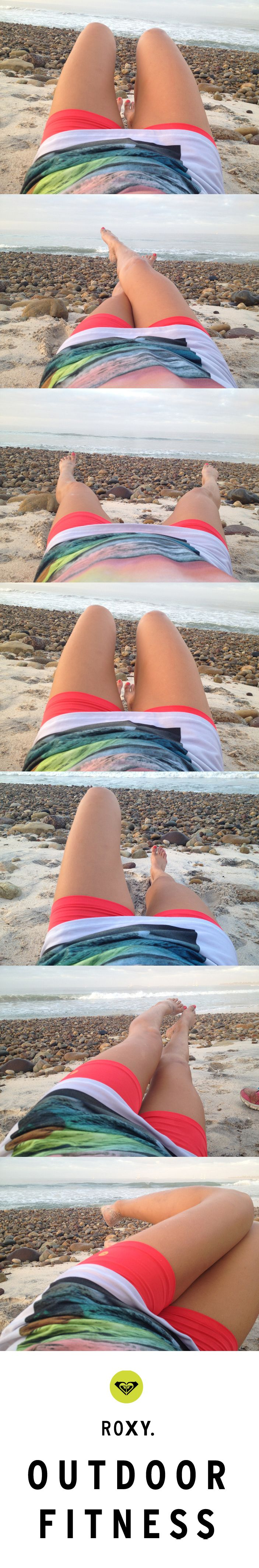 PIN THIS!  #ROXYOutdoorFitness inspo & easy how-to for getting BEACH ABS on the BEACH....