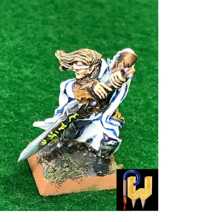 Warhammer Army High Elf AOS Eldritch Council Eltharion The Blind Metal Painted