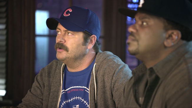 What happens when you get Ron Swanson and Darryl Philbin at a bar to talk about baseball? Magic. Welcome back, New Era. http://www.adweek.com/news/advertising-branding/spot-crosstown-rivals-139501