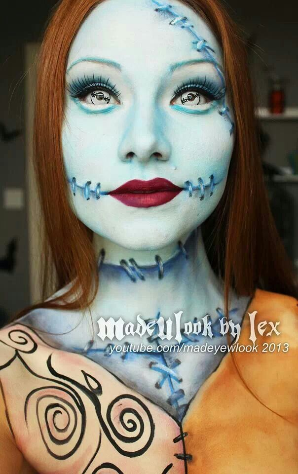 Beautiful artistry! Sally from Nightmare Before Christmas (Tim Burton movie)