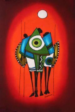 Африканское искусство :: Воин обороны - Симба Craftware