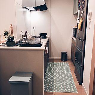 キッチンマット×シンプルのインテリア実例 | RoomClip (ルームクリップ) Kitchen/観葉植物/無印良品/ナチュラル/IKEA/ゴミ箱/Francfranc/