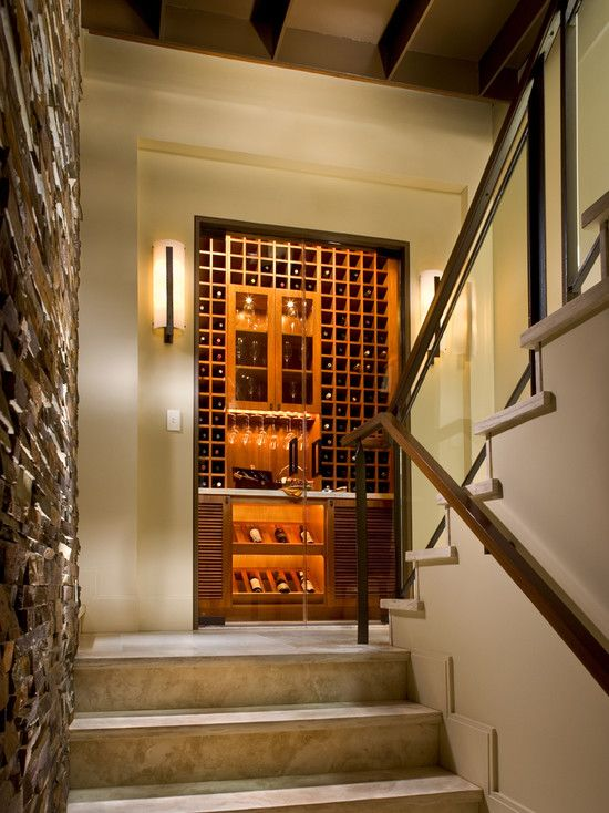 contemporary wine cellar design pictures remodel decor and ideas page 5 - Home Wine Cellar Design Ideas