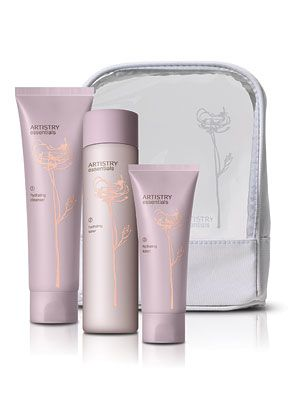 ARTISTRY® essentials hydrating skincare system - This stuff is so amazing, makes your skin baby-soft. Bonus: Artistry is the exclusive skincare and cosmetics provider for Miss America. Which means it's got to be good :)