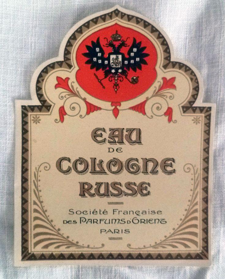 Eau de Cologne Russe ~ Vintages