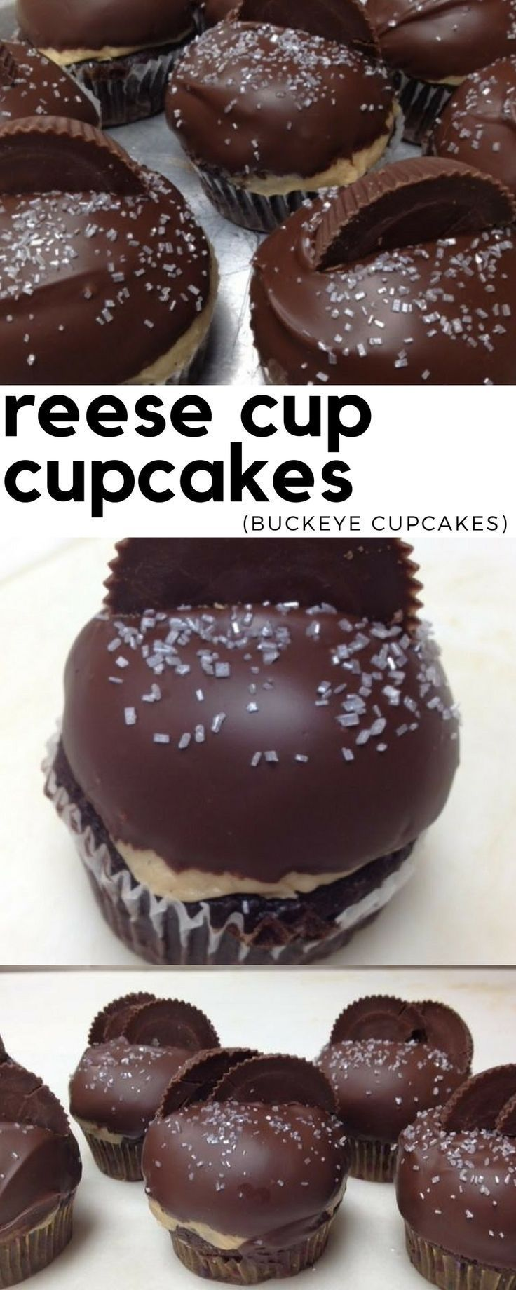 Homemade reese cup cupcakes recipe any peanut butter fan is sure to love! #cupcakerecipes