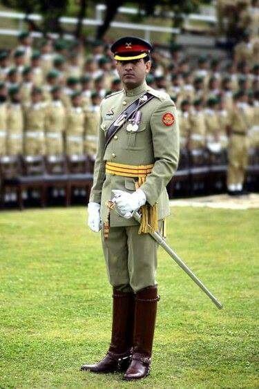 Pakistan Military Academy adjutant's parade dress uniform
