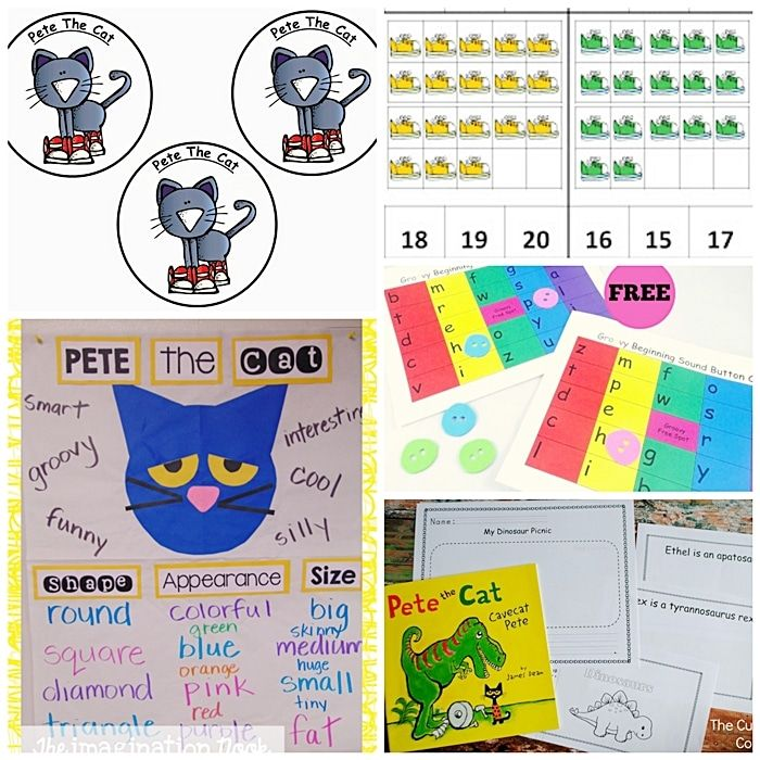 51 Groovy Pete the Cat Lesson Plans and Freebies: Pete the Cat Games and Ready to Go Resources - KindergartenWorks