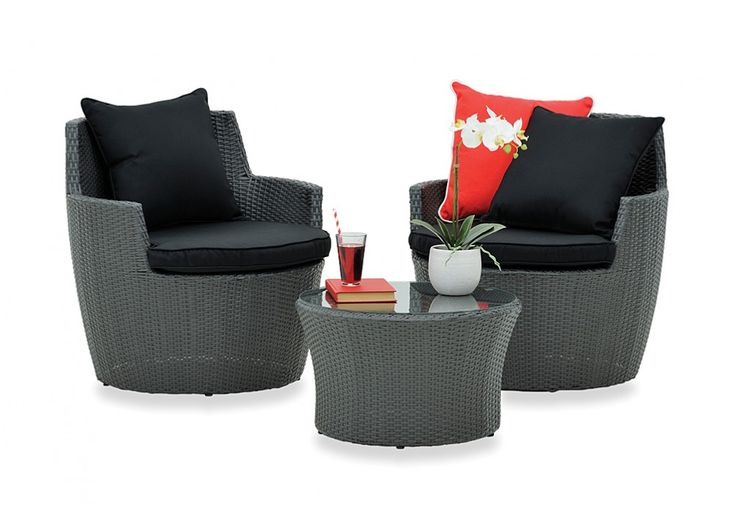 The Granada 3 Piece Outdoor Setting Has A Unique Stackable Design So It Can Be Stored When It S Not In Use Super A Mart Outdoor Pinterest Outdoor