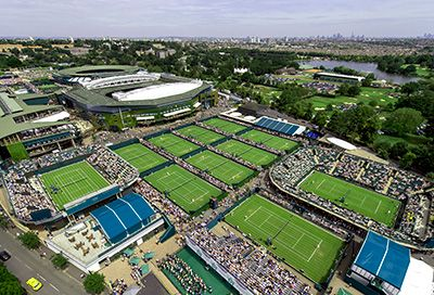 Vacation packages to Wimbledon, the most prestigious Grand Slam in London, England. The trip includes tickets to Centre Court, Court 1 and Court 2.